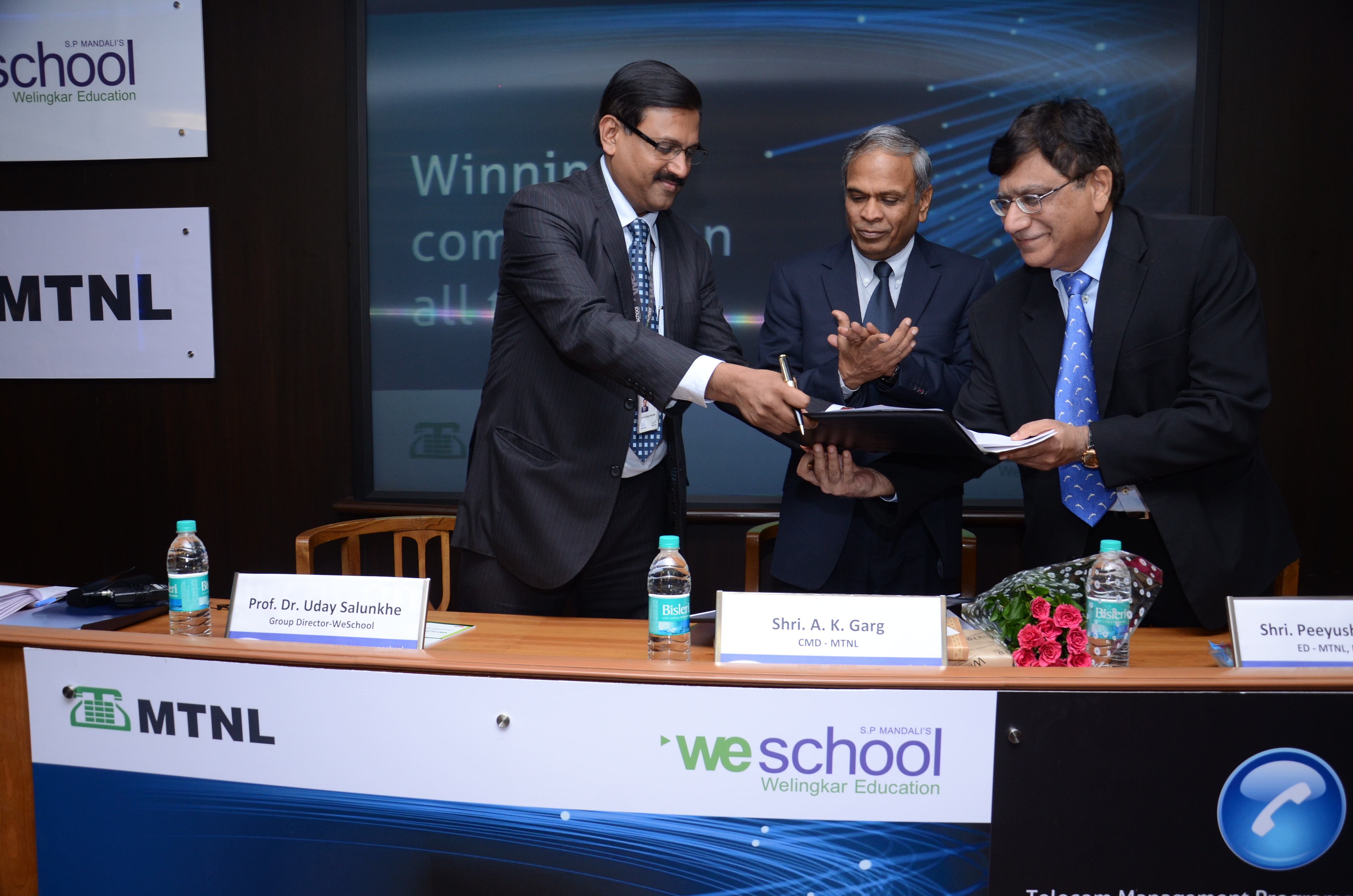 MTNL, the telecom PSU joins hands with WeSchool to launch new programs in Telecom Management