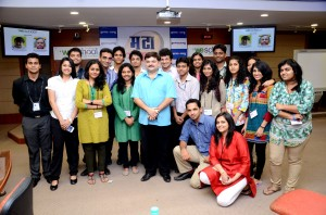 Students of Media & Entertainment course interact with theater personality , Prashant Damle
