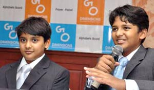 Shravan and Sanjay Kumaran, the youngest CEOs share market gyan with  b-school students at 'wedvaan'