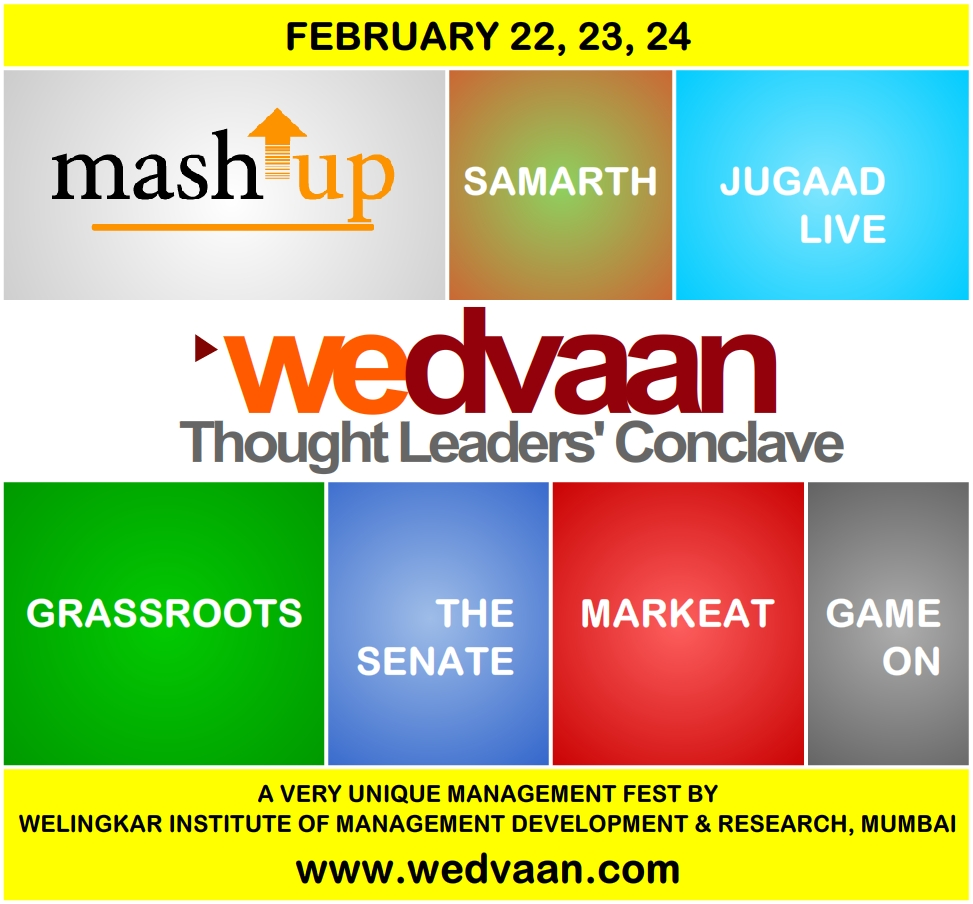 'wedvaan','The Thought Leaders Conclave' at WeSchool ,Feb 22-24,2013