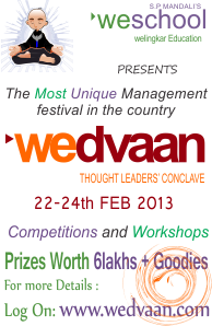 wedvaan,the management festival with a heart includes 'Dare to care', a CSR initiative