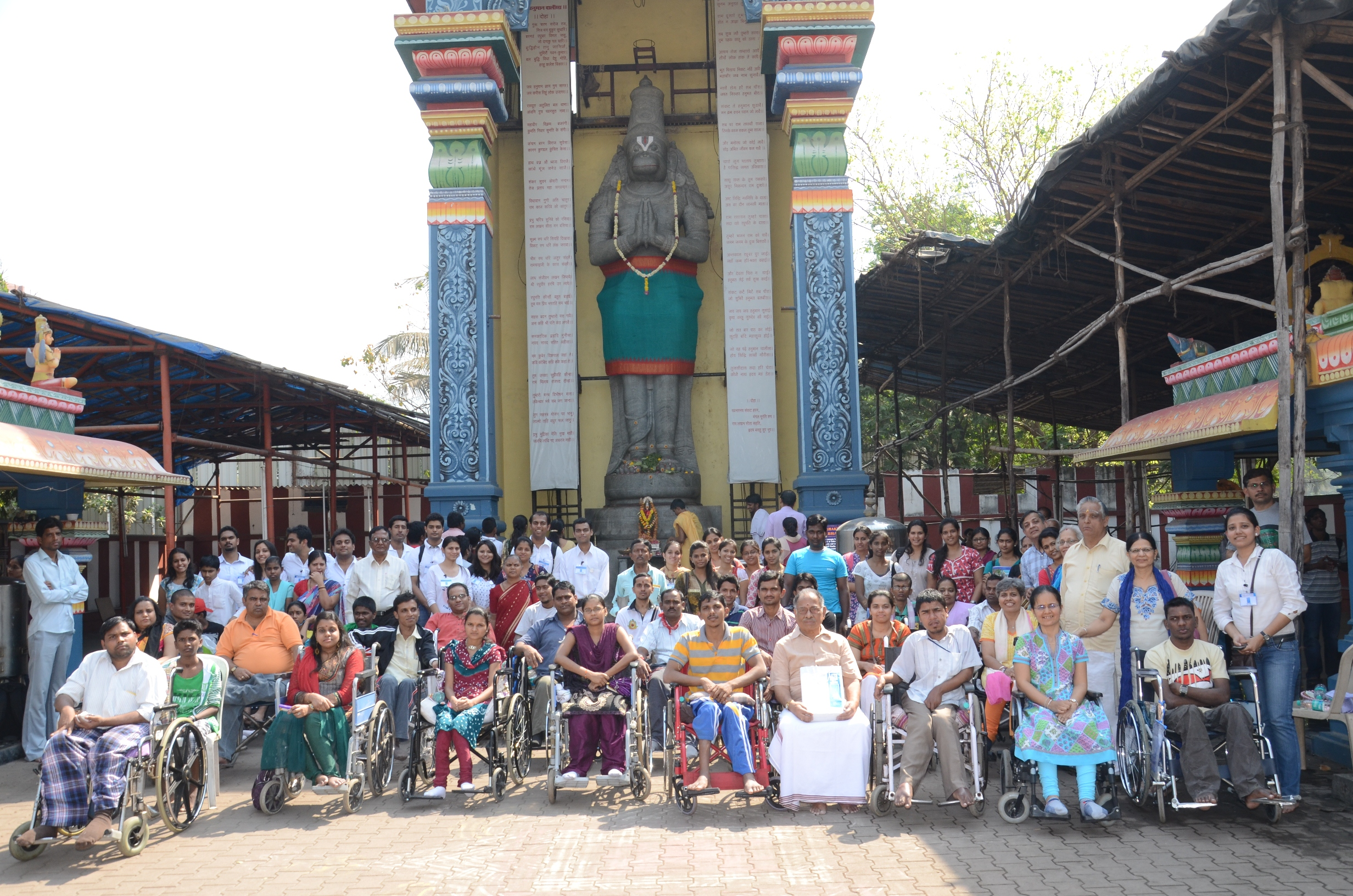 Prof Ketna Mehta,Associate Dean- Research,arranges a spiritual journey for people with spinal injury