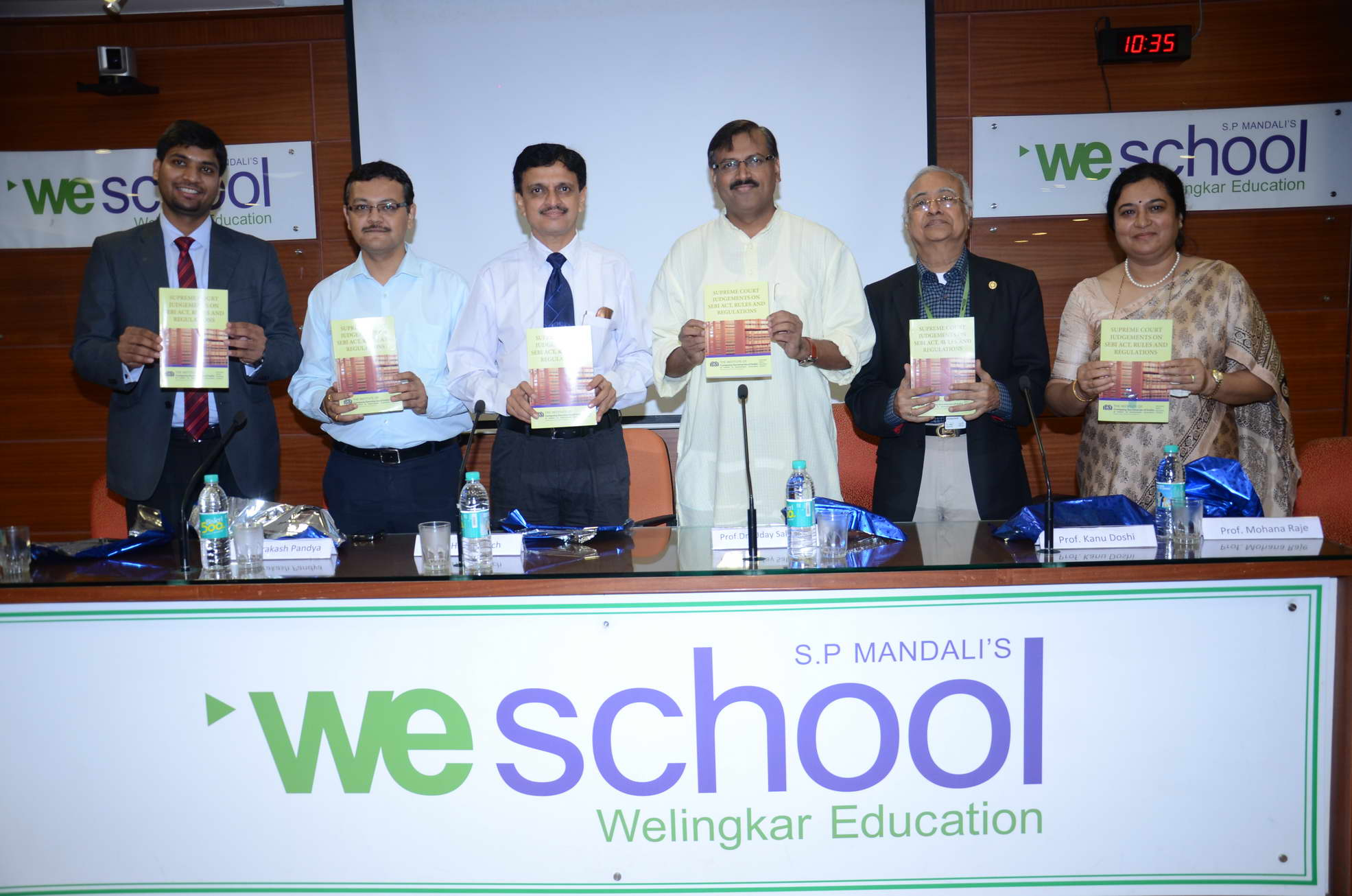 A seminar on Securities Law at WeSchool