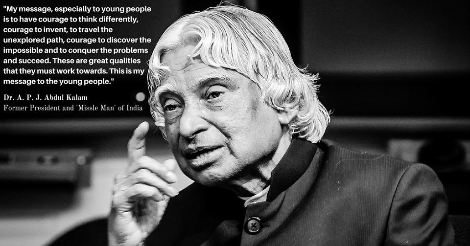 APJ Abdul Kalam may be no more but he will continue to inspire and help us to raise the bar in our mission of social transformation through innovative education.