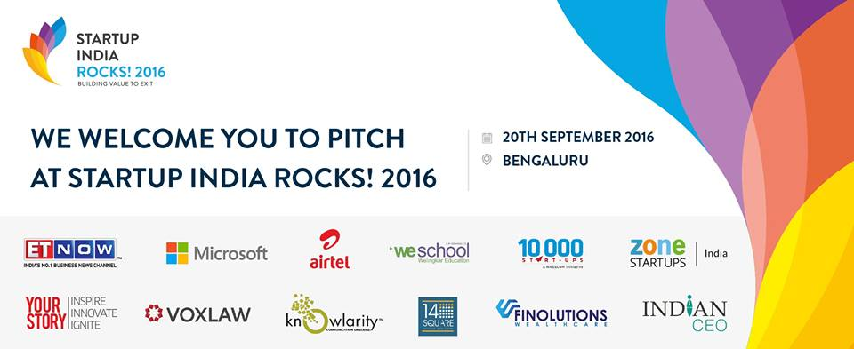 Startups get ready for 'Startup India Rocks !' at WeSchool Bengaluru and Mumbai