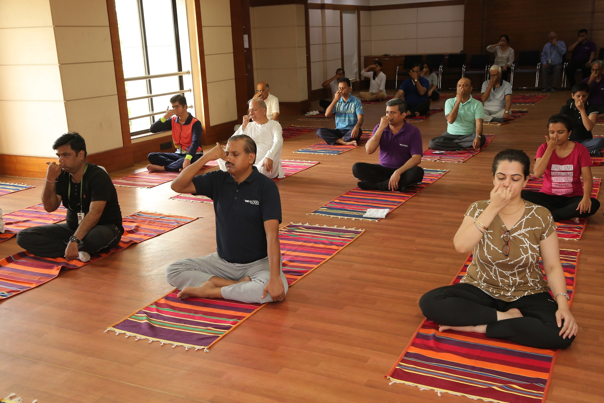 International Day of Yoga 2017 celebrated at WeSchool