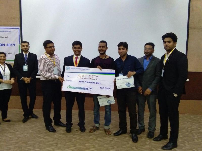 Vinit Dhamale, WeSchool student of PGDM-Healthcare Management Program,  2016-18 batch wins first prize in Globcon Hackathon 2017