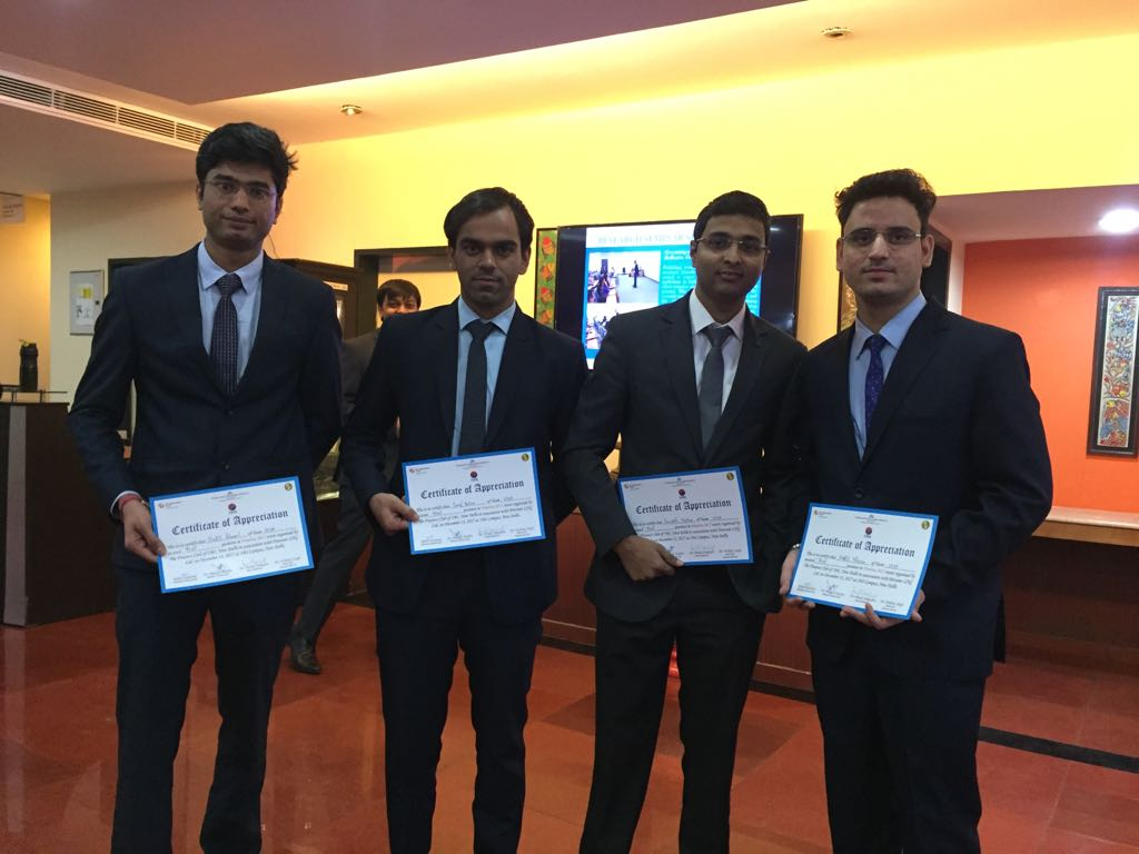 WeSchool's Fantastic Four join the league of winners at an inter B-School competition by Petronet LNG Limited