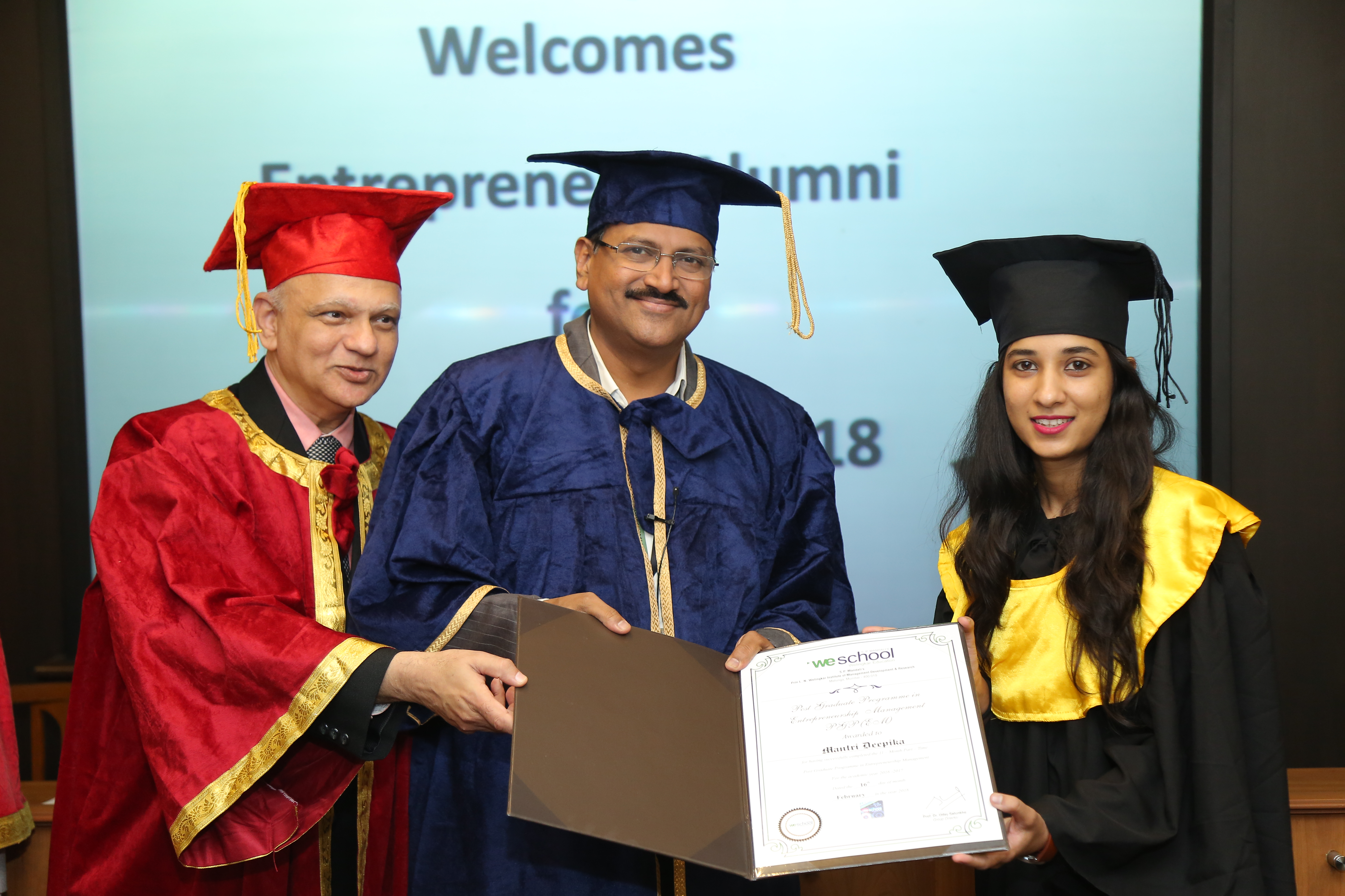 Entreprenuers @WeSchool awarded Convocation Certificates