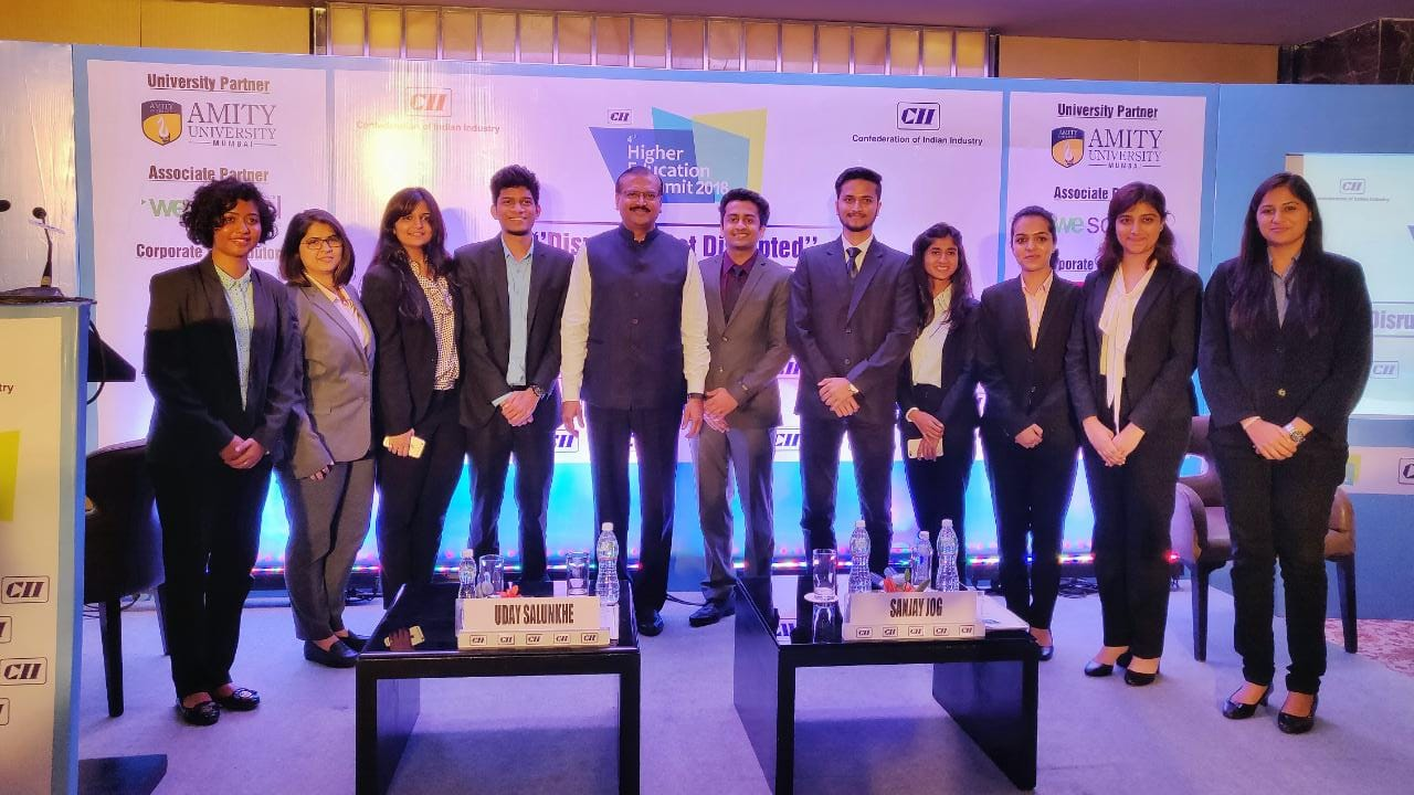 CII 4th Higher Education Summit 2018: Disrupt or Get Disrupted, led by Prof. Dr Uday Salunkhe, Chairman, CII Western Region, Higher Education Sub-Committee