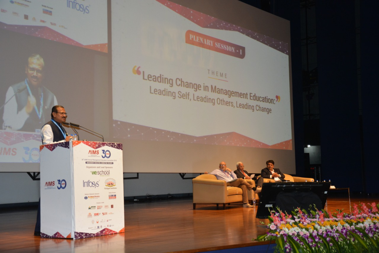 """Education institutions have a larger role to play to create future leaders who are adept with skills relevant in the future"" - Prof Dr. Uday Salunkhe, Group Director, WeSchool"