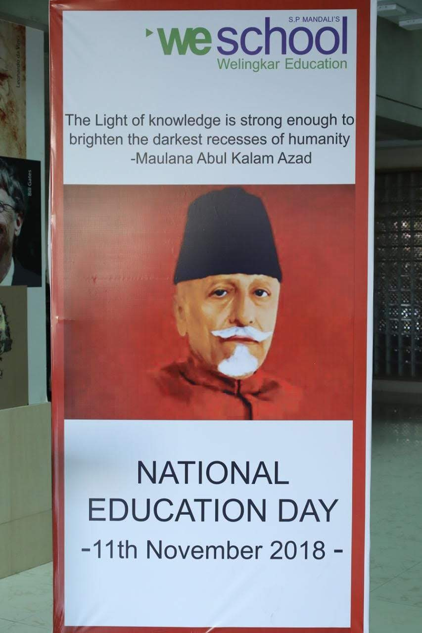 Bharat Ratna Maulana Abul Kalam Azad - National Education Day on WeSchool campus