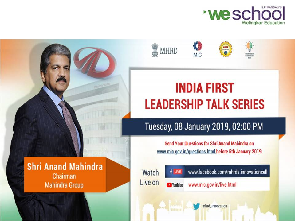 MHRD's India First Leadership Talk Series