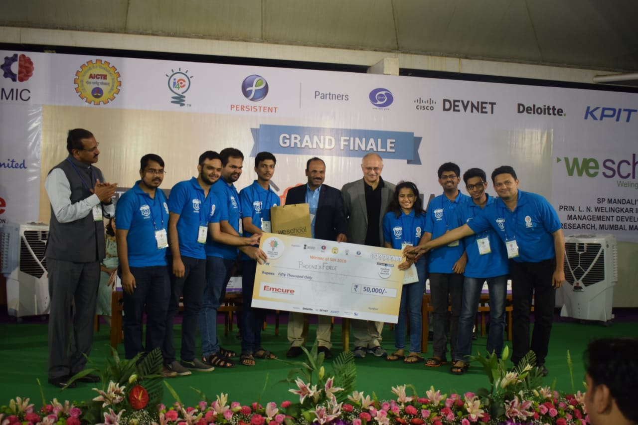 Team 'PhoenixForce', Shah And Anchor Kutchhi Engineering College, Mumbai wins SIH 2019