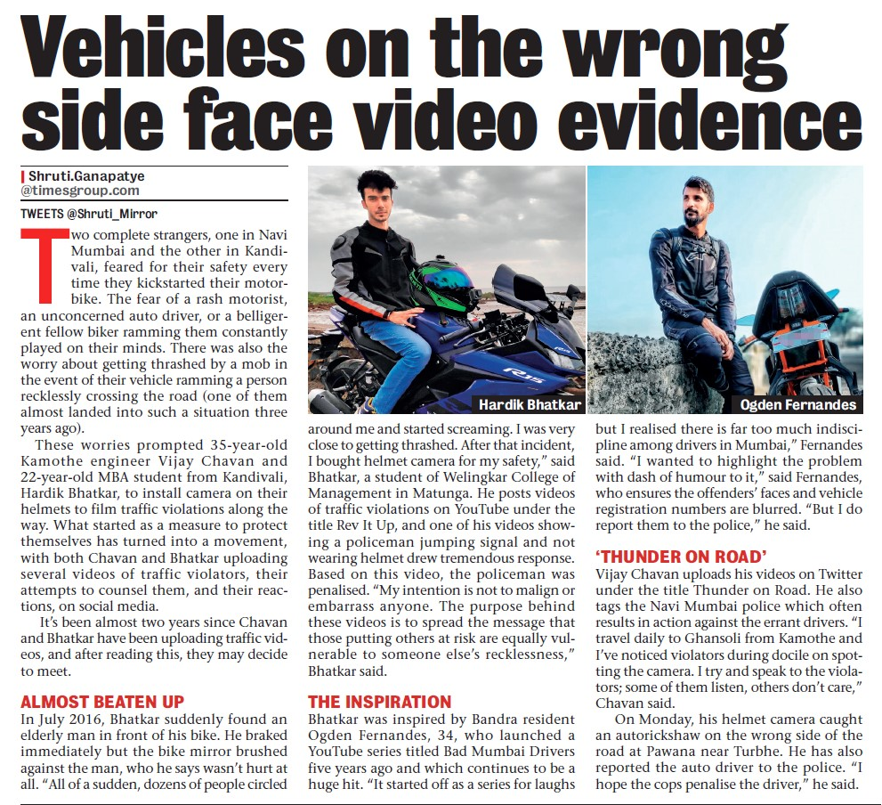 Don't let your josh behind the wheel get another under the wheel. Follow traffic rules says Motovlogger, Hardik Bhatkar, a Welingkar student on #revitup