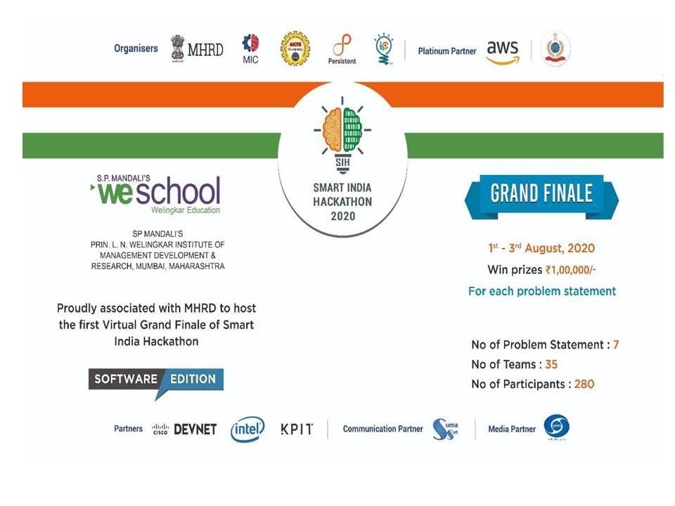 The First Ever Virtual Smart India Hackathon 2020 (software edition) - 1st August to 3rd August