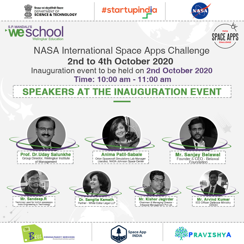 S.P. Mandali's WeSchool hosts the first ever virtual NASA Space Apps Challenge 2020, 2 October to 4 October